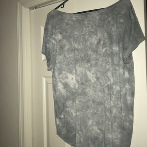 American Eagle Outfitters Tops - American Eagle Green/White Tie-Dye V-Neck